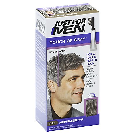 Just For Men Hair Color Touch Of Gray Medium Brown T-35 - Each