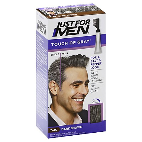 Just For Men Hair Color Touch Of Gray Dark Brown T-45 - Each