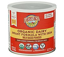 Earths Best Organic Infant Formula With Iron DHA & ARA Powder - 25.75Oz