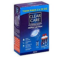 Clear Care Cleaning & Disinfecting Solution Triple Action Cleaning Twin Pack - 2-12 Fl. Oz.