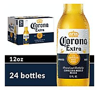 Corona Extra Mexican Import Beer Bottles 4.6% ABV - 24-12 Fl. Oz.
