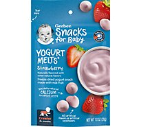 Gerber Graduates Yogurt Melts Freeze-Dried Yogurt & Fruit Snacks Strawberry - 1 Oz