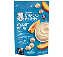 Gerber Graduates Yogurt Melts Freeze-Dried Yogurt & Fruit Snacks Peach - 1 Oz