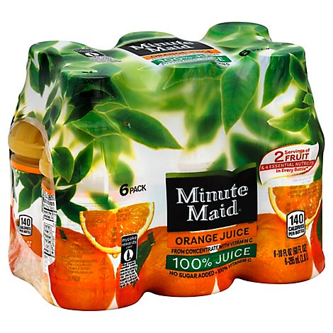 Minute Maid Orange Juice 6 Pack - 6-10 Fl. Oz.