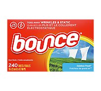 Bounce Fabric Softener Dryer Sheets Outdoor Fresh - 240 Count