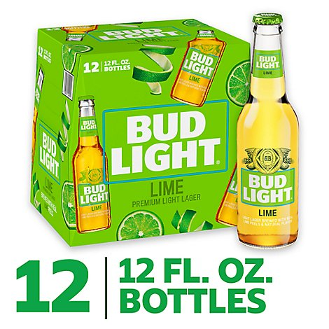 Bud Light Lime Beer Bottle - 12-12 Fl. Oz.