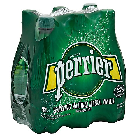 Perrier Carbonated Mineral Water - 6-16.9 Fl. Oz.