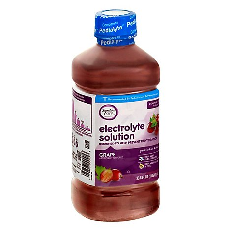 Signature Care Electrolyte Solution For Kids & Adults Grape - 1 Liter