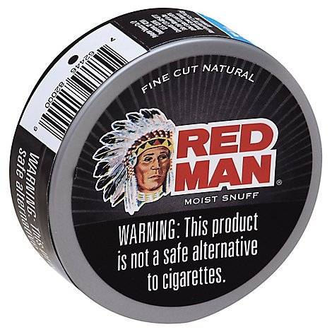 Red Man Fine Cut Natural Moist Snuff - 1.2 Oz