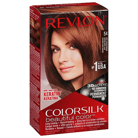 Revlon Colorsilk Beautiful Color Hair Color Light Golden Brown 54 - Each