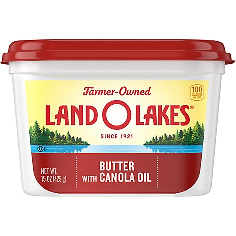 Land O Lakes Butter Spreadable With Canola Oil - 15 Oz