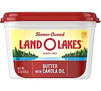 Land O Lakes Spreadable Butter with Canola Oil - 15 Oz