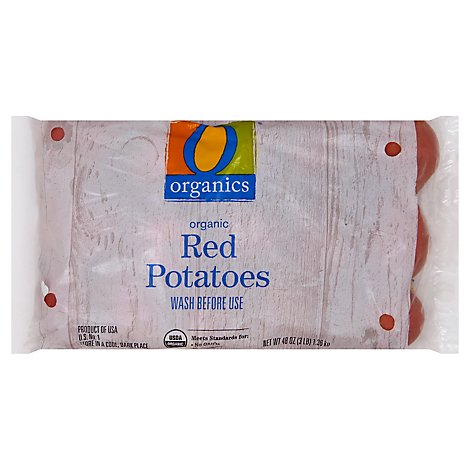 O Organics Organic Potatoes Red Prepacked - 3 Lb