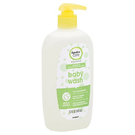 Signature Care Baby Wash Mild & Gentle Tear Free Formula - 15 Fl. Oz.