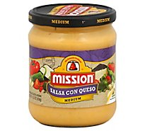 Mission Salsa Con Queso - 15.5 Oz