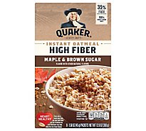 Quaker Select Starts High Fiber Oatmeal Instant Maple & Brown Sugar - 8-1.58 Oz