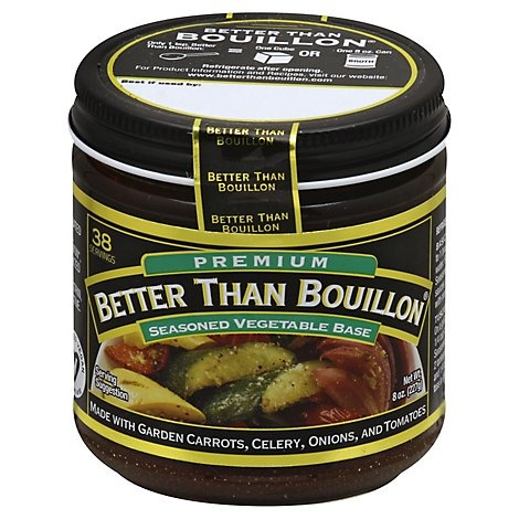Better than Bouillon Base Premium Seasoned Vegetable - 8 Oz