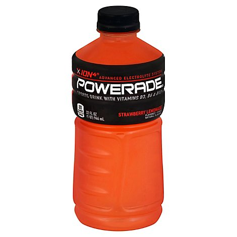 POWERADE Sports Drink Electrolyte Enhanced Strawberry Lemonade - 32 Fl. Oz.