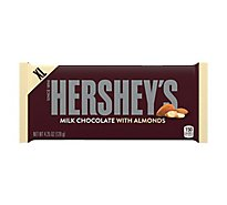 HERSHEYS Candy Bar Milk Chocolate With Almonds Wrapper - 4.25 Oz