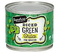 Signature SELECT Green Chiles Fire Roasted Diced Mild Can - 7 Oz