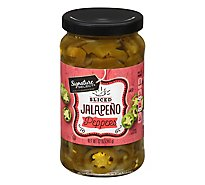 Signature SELECT Peppers Jalapeno Sliced Jar - 12 Oz