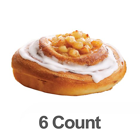 Bakery Cinnamon Rolls Apple 6 Count - Each
