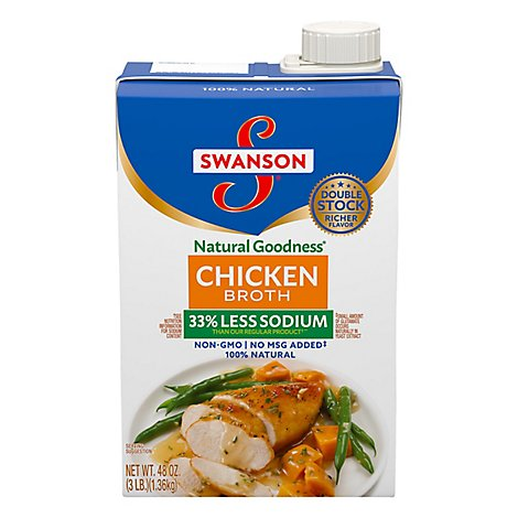 Swanson Natural Goodness Broth Chicken 33% Less Sodium - 48 Oz