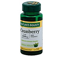 Natures Bounty Triple Strenth Cranberry Fruit 1680 Milligrams Softgels - 100 Count
