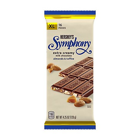 Symphony Milk Chocolate Creamy Almond & Toffee Chips - 4.25 Oz