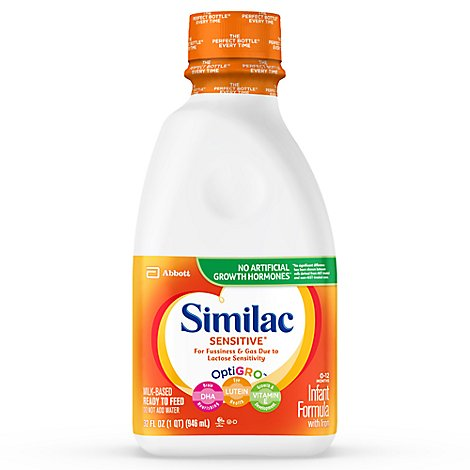 Similac Sensitive For Fussiness and Gas Infant Formula With Iron Ready To Feed - 32 Fl. Oz.
