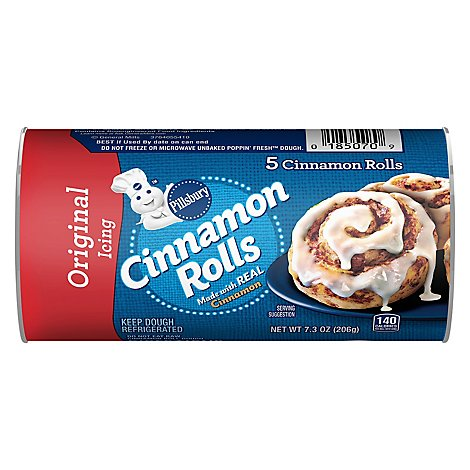 Pillsbury Cinnamon Rolls With Icing 5 Count - 7.3 Oz