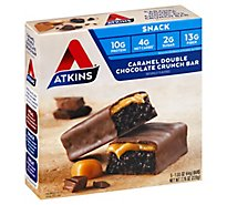 Atkins Bar Caramel Double Chocolate Crunch - 5-1.6 Oz