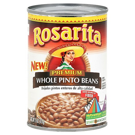 Rosarita Beans Pinto Whole Premium Can - 15 Oz