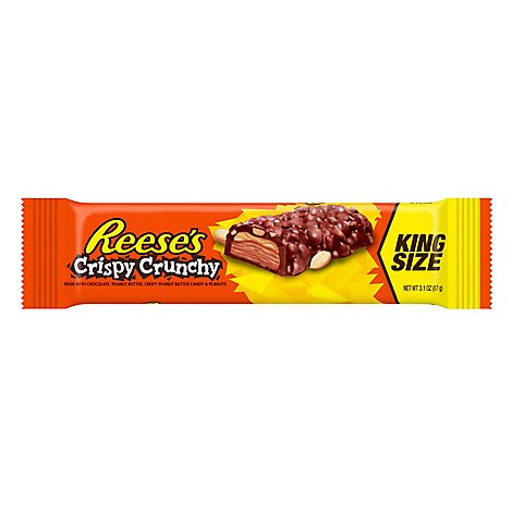 Reeses Peanut Butter Chocolate Crispy Crunchy Candy Bar King Size - 3.1 Oz