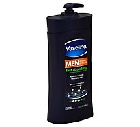 Vaseline Men Body & Face Lotion Fast Absorbing - 24.5 Fl. Oz.