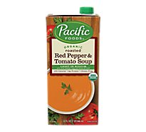 Pacific Organic Soup Roasted Red Pepper & Tomato Light In Sodium - 32 Fl. Oz.