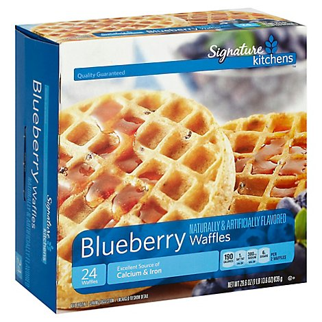 Signature SELECT/Kitchens Waffles Blueberry - 29.6 Oz