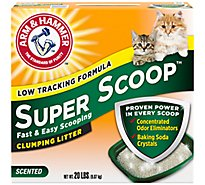 ARM & HAMMER Super Scoop Cat Litter Clumping - 20 Lb