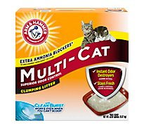 ARM & HAMMER Cat Litter Clumping Multi Cat Extra Strength - 20 Lb