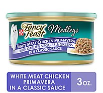 Fancy Feast Medleys Cat Food Gourmet White Meat Chicken Primavera In A Classic Sauce Can - 3 Oz