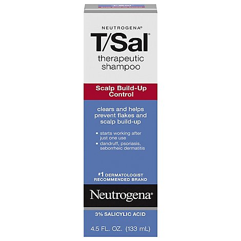 Neutrogena TSal Shampoo Therapeutic Scalp Build-Up Control - 4.5 Fl. Oz.