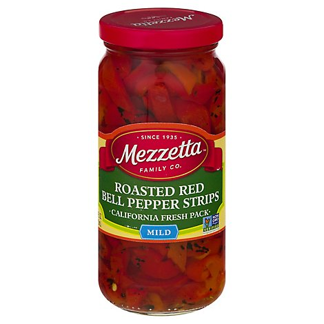 Mezzetta Peppers Bell Roasted Strips Deli-Sliced - 16 Oz