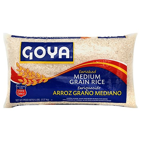 Goya Rice Grain Medium Enriched - 5 Lb