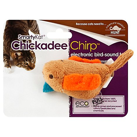 SmartyKat Electronic Bird Sound Toy Chickadee Chirp - Each
