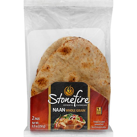 Stonefire Naan Tandoor Baked Whole Grain - 8.8 Oz