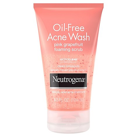 Neutrogena Acne Wash Oil-Free Pink Grapefruit Foaming Scrub - 4.2 Fl. Oz.