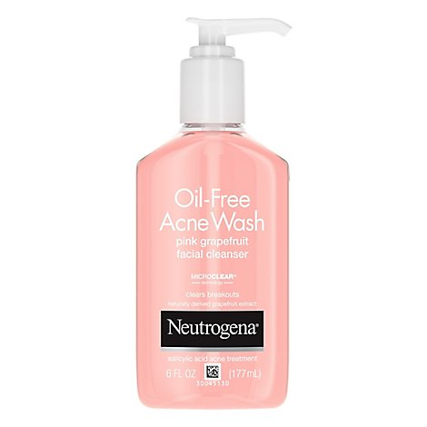 Neutrogena Acne Wash Oil-Free Facial Cleanser Pink Grapefruit - 6 Fl. Oz.