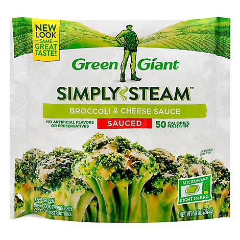 Green Giant Steamers Broccoli & Cheese Sauce Sauced - 12 Oz