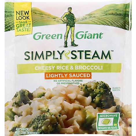 Green Giant Steamers Cheesy Rice & Broccoli Sauced - 12 Oz