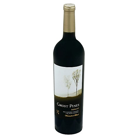 Ghost Pines Merlot Red Wine - 750 Ml